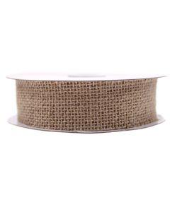 Cut Edge 32mm Rustic Hessian Ribbon - Natural