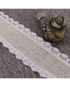 Lace Edge 38mm Hessian- Light Natural (by the metre)