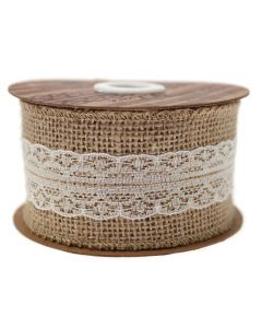 Hessian Lace (Ivory) 50mm Wide