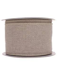 Wired Edge 70mm Natural Linen Burlap Ribbon - Roll