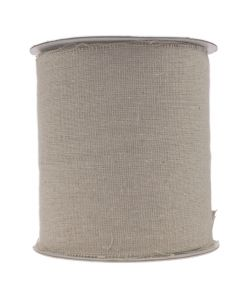 Frayed Edge 100mm Burlap Ribbon - Natural Linen