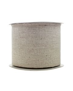 Frayed Edge 70mm Burlap Ribbon - Natural Linen