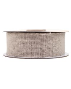 Frayed Edge 32mm Burlap Ribbon - Natural Linen
