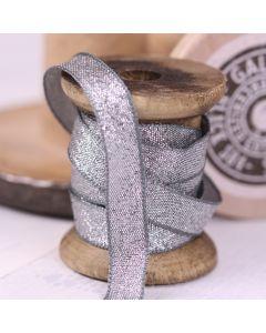 Razzle Glitter Ribbon 10mm - Graphite/Silver colour 7