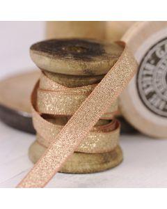 Razzle Glitter Ribbon 10mm - Creta/Gold colour 14