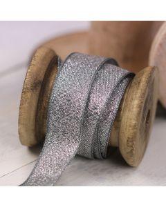 Razzle Glitter Ribbon 15mm - Graphite/Silver colour 7