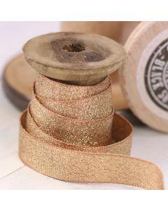 Razzle Glitter Ribbon 15mm - Creta/Gold colour 14