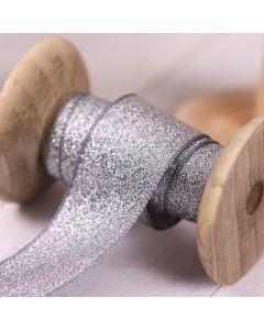 Razzle Glitter Ribbon 25mm - Graphite/Silver colour 7