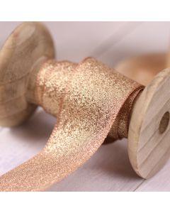 Razzle Glitter Ribbon 25mm - Creta/Gold colour 14