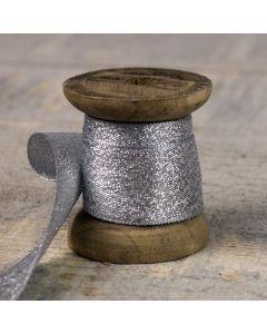 Lamé Glitz 25mm - Silver Colour 100