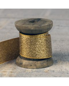 Lamé Glitz 25mm - Dark Gold Colour 244