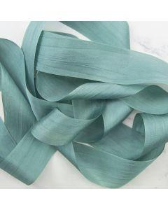 May Arts Teal (Colour 04) 32mm Pure Silk Ribbon x 1m