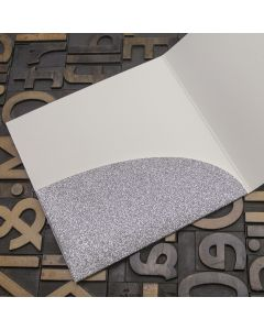 Enfolio Pocket Card - Silver Glitter Card