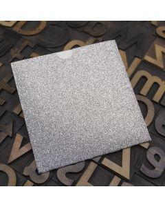 Enfolio Wallet 125mm Sq - Silver Glitter Card