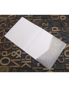 Enfolio Tentfold Large Square - Silver Glitter Card