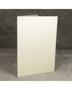Creased Card A5 - Vintage Ivory