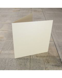Creased Card Small Square - Vintage Ivory