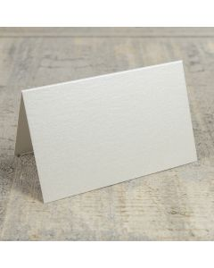 Creased Card Place Card - Soft Sheen Ivory