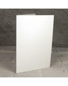 Creased Card A5 - Soft Sheen Ivory