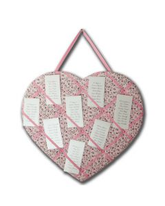 Floral Heart Memory Board - DIY Table Plan Idea