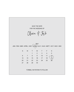 Square Postcard Save the Date Card Template