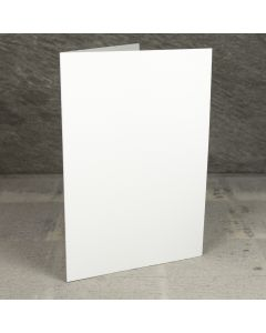 Creased Card A5 - Silkweave Ivory