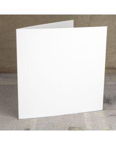 Creased Card Large Square - Silkweave Ivory