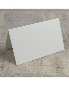 Creased Card Place Card - Silkweave Ivory