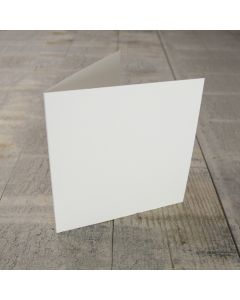 Creased Card Small Square - Silkweave Ivory