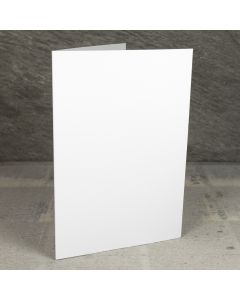 Creased Card A5 - Silkweave White