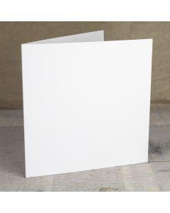 Creased Card Large Square - Silkweave White