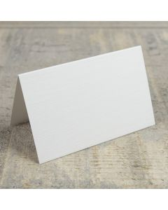 Creased Card Place Card - Silkweave White