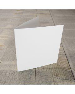 Creased Card Small Square - Silkweave White