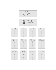 Editable PDF Table Plan Template