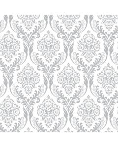 Tatton Silver Decorative Paper - Zoom