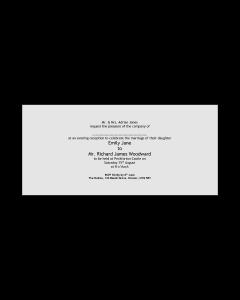 Enfolio Pocketfold (DL) - Cardmount & Cardstep 1 Evening Invitation Template