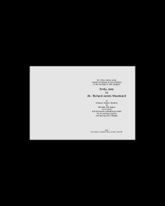 C6 Insert - Wedding Invitation Template