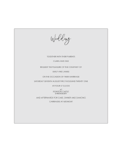 Milanese Wallet Lasercut Invitation Tier 1- Design 1