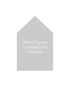155mm Square Envelope Liner Template