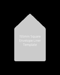 155mm Square Envelope Liner Template