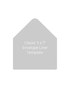 Classic 5 x 7 Envelope Liner Template