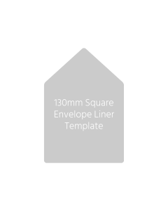130mm Square Envelope Liner Template