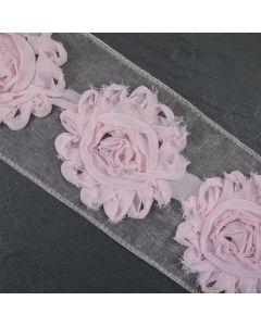 Pink Floral Tattered Wide Trim