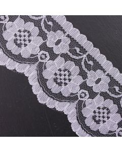 70mm Wide Ivory Flat Lace