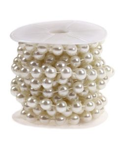 10mm Pearl Trim 1m - Ivory