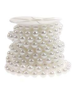 10mm Pearl Trim 1m - White