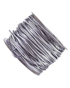 Silver Metallic Elasticated Cord - Reel