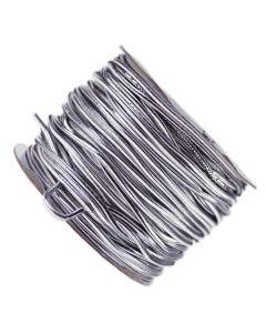 Silver Metallic Elasticated Cord - Reel