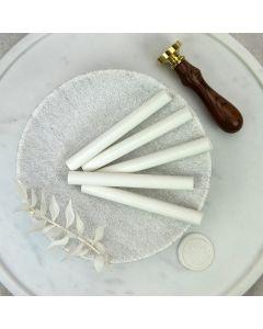 White Glue Gun Sealing Wax Sticks (Matt) - 11mm