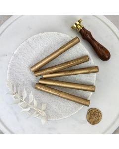 Gold Glue Gun Sealing Wax Sticks (Pearl) - 11mm